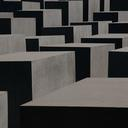 Black and white image of texture of the memorial to the murdered jews of Europe
