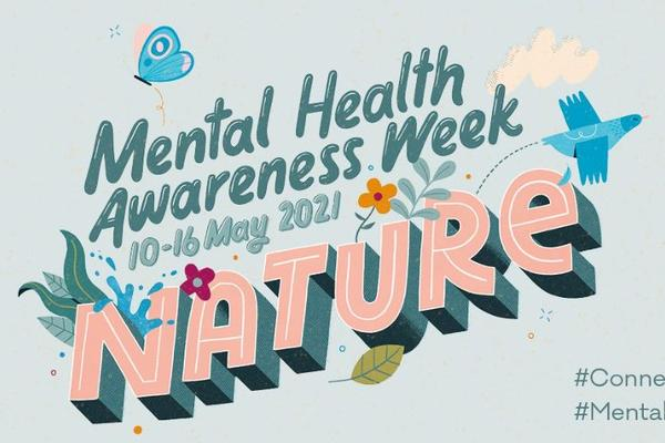 Logo for Mental Health Awareness week, featuring their 'Nature' theme