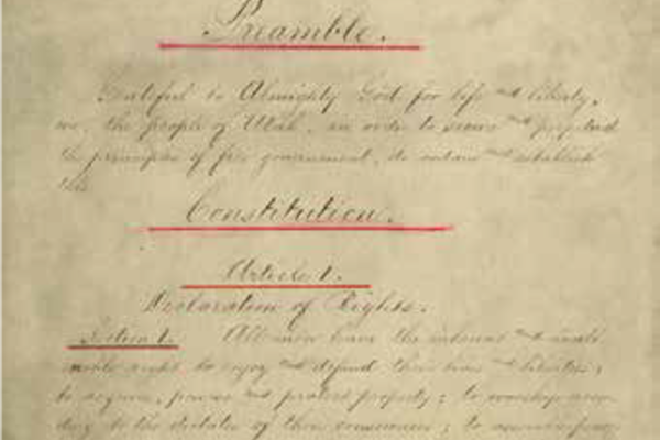 Image depicting a page of a handwritten constitutional record