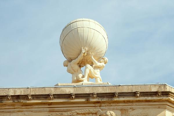 Atlas and Hercules supporting the globe