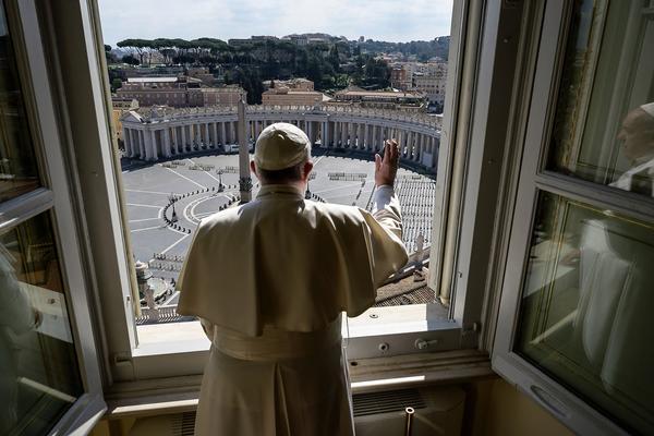 Pope at window