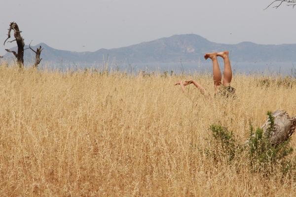The Geopoetics Project (Nisiros, 2013), performer Anna Tzakou, photo Elli Vassalou