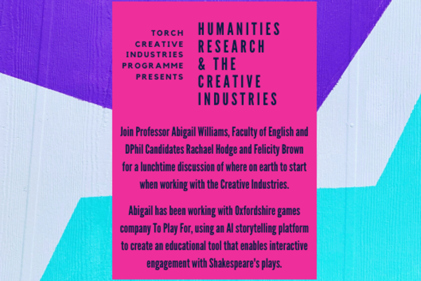creative industries research session abigail williams