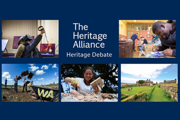 Cover Image of the Heritage Debate depicting human activities related to heritage