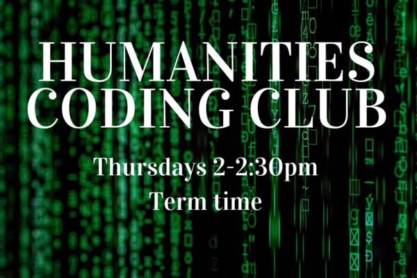 humanities coding club