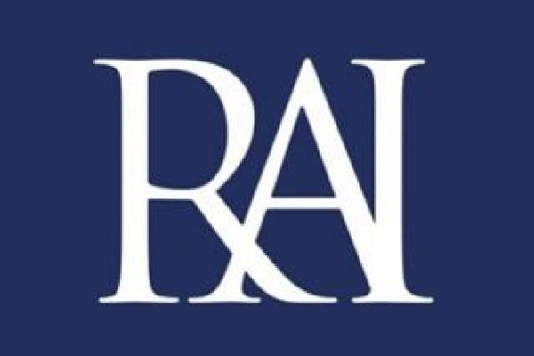rai small letters white on blue