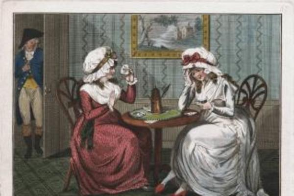 telling fortune in coffee grounds 1790