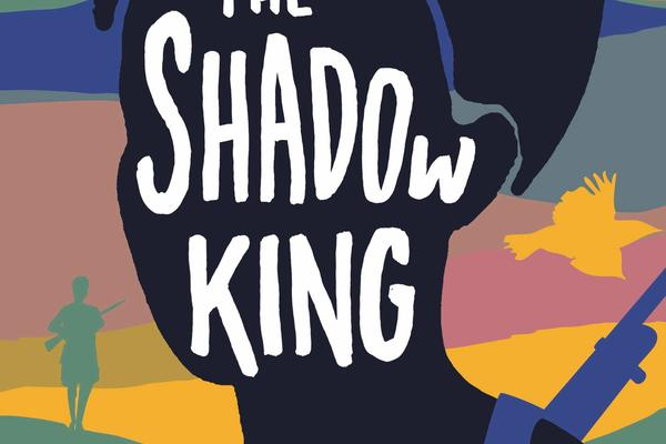 The Shadow King book cover, colourful image of woman