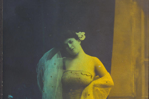 Portrait of a woman from the Belle Epoque