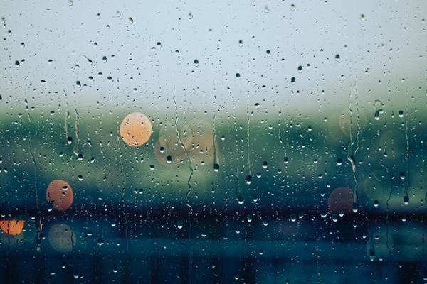 Waterdrops on window pane