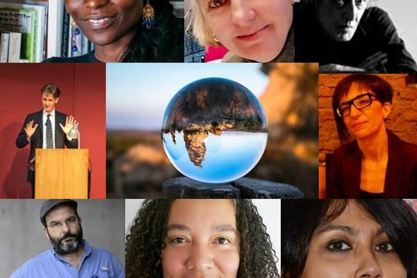 A collage of images of researchers
