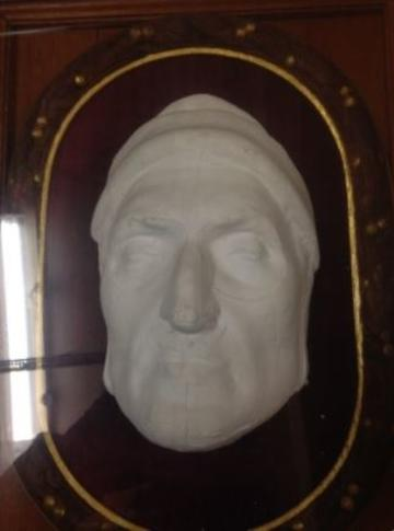 plaster cast of dante's face (replica)