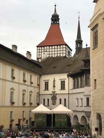 courtyard of castle blatna