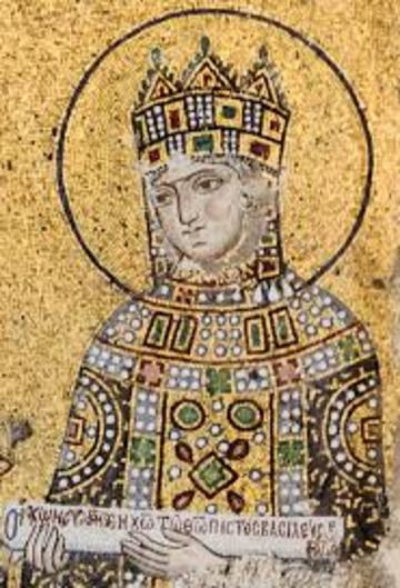 golden mosaic of Zoe