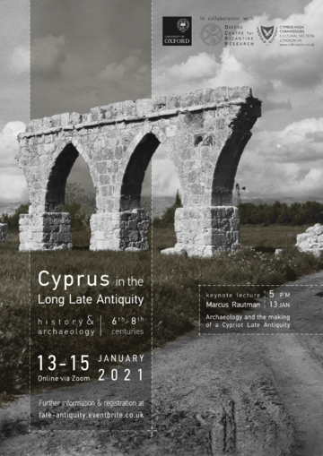Keynote lecture: Marcus Rautman 'Archaeology and the making of a Cypriot Late Antiquity' (13 January, 5 pm)