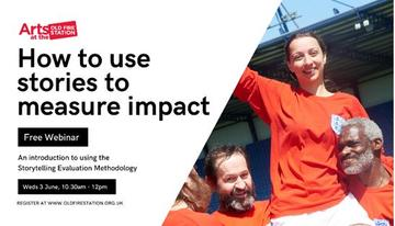 old fire station webinar how to use stories to measure impact poster