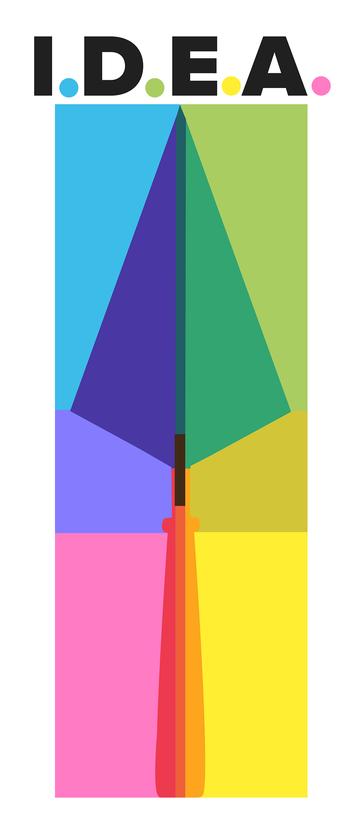 idea logo (colourful arrow)