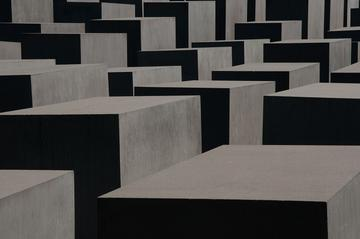 texture of the memorial to the murdered jews of europe