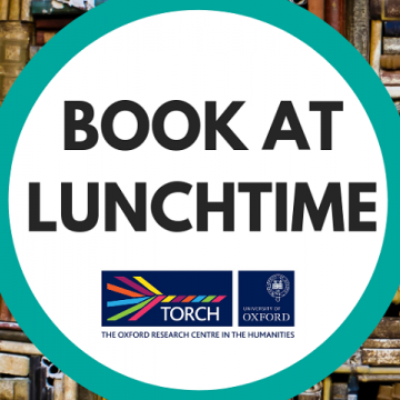 Book at Lunchtime title and TORCH logo against a backdrop of books