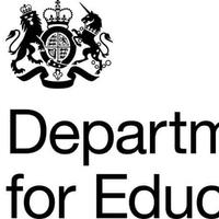 Department for Eeducation logo displaying the coat of arms on the top left